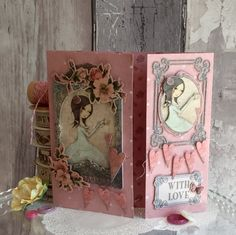 A pretty, pink card using the new Santoro Mirabelle collection by Angie