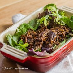 Amazing and simple recipe for pulled beef using anti inflammatory properties of turmeric and fresh herbs in a crock pot.