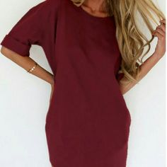Just in beautiful Burgundy tunic top. Beautiful Wine Burgundy tunic top that looks great with leggings or skinny jeans. Price is firm unless bundled. Tops Tunics