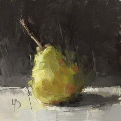 8 x 8″, Pear Study, Oil on board.