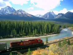 Train Travel, Canadian Rockies