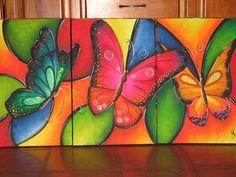 Mariposas coloridas, bellas.