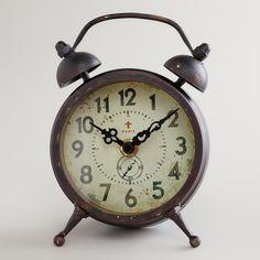 Black Vintage-Style Magnet Clock | World Market