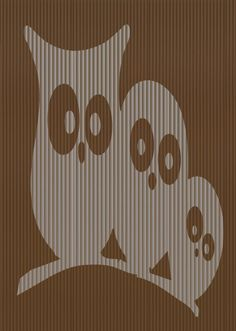 Cut And Fold Book folding pattern of 3 Owls EXCLUSIVE by BookArtCo