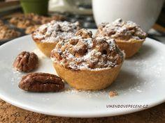 VÍKENDOVÉ PEČENÍ: Košíčky s pekanovými ořechy No Bake Pies, Finger Foods, Baked Goods, Cookie Recipes, Cheesecake, Cupcakes, Sweets, Cookies, Baking
