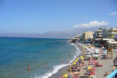 Beach at Hersonissos, Crete, Greece