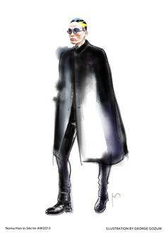 George Gozum - fashion illustration men