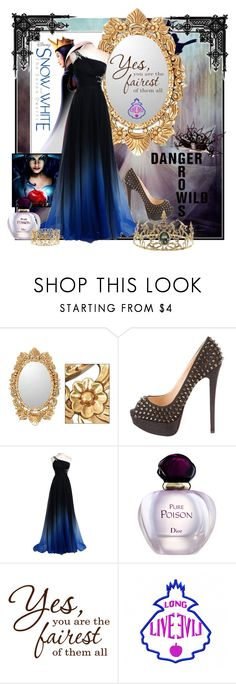 """""""Evil Queen"""" by joyfulnoise1052 on Polyvore featuring NOVICA, Christian Louboutin, Christian Dior, Once Upon a Time, women's clothing, women's fashion, women, female, woman and misses"""
