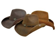 dfdeba037db Stetson Cowboy Distressed Leather Collection  Roxbury Hat Sold by  CowboyHatCountry.com Resistol Hats