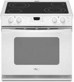 Whirlpool WDE350LVQ 30' White Electric Smoothtop Range * This is an Amazon Affiliate link. Find out more about the great product at the image link.