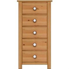 Manhattan Shaker 5 Drawer Narrow Cabinet