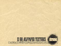 13 HQ Old paper Textures by overdosse.deviantart.com on @deviantART