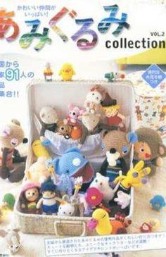 Amigurumi Crochet Collection Vol 2 - Japanese Craft Book Japanese Crochet Patterns, Crochet Amigurumi Free Patterns, Japanese Embroidery, Magazine Crochet, Crochet Books, Book Crafts, Craft Books, Amigurumi Doll, Crochet Animals