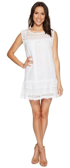 BB Dakota Milo Crochet Dress (Optic White) Women's Dress - BB Dakota, Milo Crochet Dress, BIH208091-002, Apparel Top Dress, Dress, Top, Apparel, Clothes Clothing, Gift - Outfit Ideas And Street Style 2017