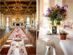 Beautiful room setup and center pieces from one of our fall weddings as featured on @Judith de Munck Clark chicks! #earlymountain earlymountain.com