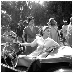 Suzy Parker in suit by Basta and Françoise Dambier in dress by Weil, photo by Georges Dambier, Morocco, ELLE, April 27, 1953 MG