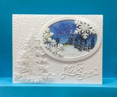 Let it snow card by jandjccc - Cards and Paper Crafts at Splitcoaststampers