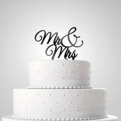 Tortendekoration 'Mr & Mrs'