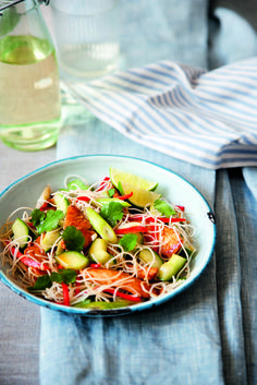 This delicious noodle salad has wonderful fresh flavours and fabulous colours.