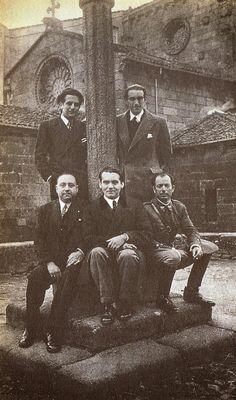 14. Lorca con unos amigos en Galicia en 1932