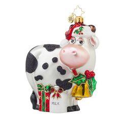 Radko MILK DELIVERY Cow ornament NEW 2015 – Christopher Radko for SALE - RadkoforSale.com Free USA Shipping