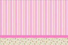 Provençal Rosa Floral - Kit Completo com molduras para convites, rótulos para guloseimas, lembrancinhas e imagens!