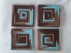Surf and Turf Square CoastersSet of 4 by MastersCreations on Etsy, $15.00