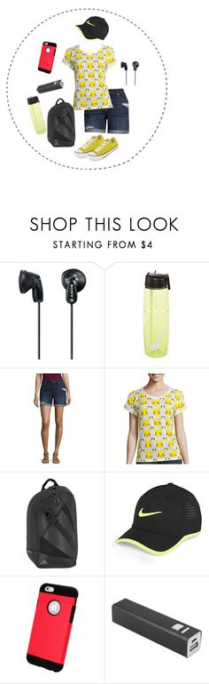 """Catch 'Em Starter Kit"" by jcpenney ❤ liked on Polyvore featuring Sony, NIKE, A.N.A, Mighty Fine, adidas, Natico, Converse, Pokemon, pikachu and jcpenney"