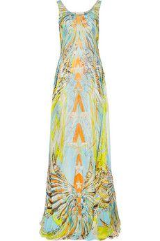 Emilio Pucci Layered printed silk-chiffon gown | NET-A-PORTER