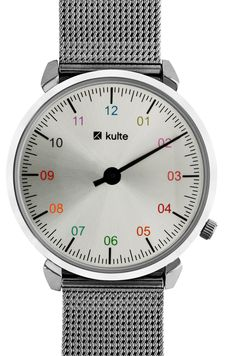 #ColorYourLife The #milanese Silver Rainbow by #Kulte - Available on http://bit.ly/1NxWUPs #watch #watches #french #frenchbrand #brand #concept #trend #trendy #colors #montre #montres