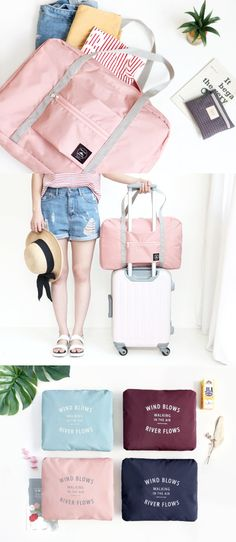 This is the perfect traveling luggage bag for any traveling! It gets big enough to hold all your traveling items, but gets small enough to fit in your purse or luggage! The Wind Blows Foldable Luggage Bag is great as both primary and secondary carry-on bag.