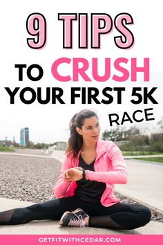 If you're prepping for your first 5k run, these are the things you need to know for race day. Running a 5k is a challenging feat, but these will make it easier - and help you run a faster 5k! #5krace #5ktips #runningforbeginners Running For Beginners, Running Tips, Become A Runner, Race Day, Prepping, Racing, Goals, Fitness, Jogging Tips