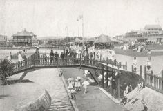 Bridge over Children's Pond, Ocean Beach, Durban. ca. 1920