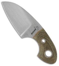 """Boker VoxKnives Gnome Fixed Blade Knife (2"""" Satin) 02BO270 - Blade HQ"""