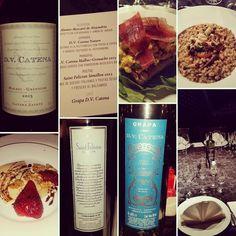 Presentación del nuevo D.V.Catena Malbec-Grenache 2015 de @catenawines con @gometz_arnaldo anoche en @lalocandaristorante con menú de la mano de @daniele_pinna_chef