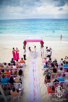 Our client's wedding ceremony at Riu Palace Las Americas, Cancun, Mexico.