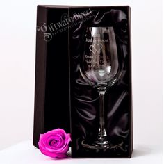 Our deluxe 350ml personalised wedding wine glasses are the perfect gift for the bridal party, family and guests. A perfect way to say thankyou with a unique, and personalised keepsake that is sure to be treasured for time to come. High quality, european glass with first class personalised laser engraving. Elegant thin construction to best enhance the taste of your wine. #GiftwareDirect #wine #wedding