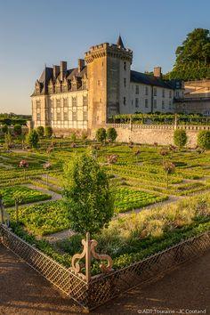 Château De Villandry, Saumur, French Castles, Chateaus, France, Great View, Palaces, Monuments, Beautiful Gardens