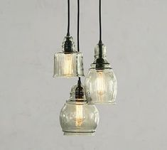 Shop Pottery Barn for expertly crafted pendant lighting. Find pendant light fixtures in a variety of styles and finishes, including glass, brass and nickel. Multi Light Pendant, Pendant Light Fixtures, Blown Glass Pendant Light, Vintage Light Fixtures, Light Fittings, Glass Chandelier, Chandelier Lighting, Chandeliers, Outdoor Chandelier