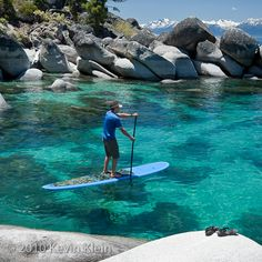paddle boarding Lake Tahoe - we rented up at Angora Lakes. Awesome! Fallen Leaf Lake trail behind firehouse up to Angora Lakes. Views of Fallen Leaf with Tahoe behind. 4 miles round trip. The hike up is like constant steps for the bulk of it. #Paddleboardshop #paddleboard #paddleboarding