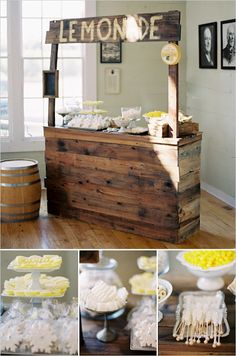Cute idea for wedding stands