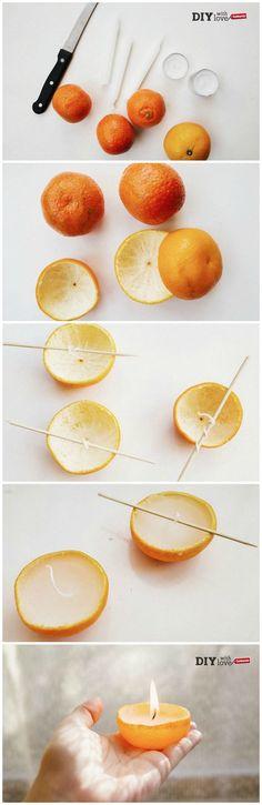Crea delle candele suggestive e profumatissime con le bucce dei mandarini: ecco il nostro #tutorial per te!