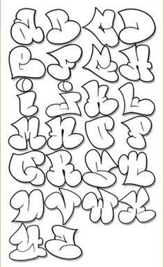 Sketch Graffiti Letters Alphabet A-z Design Sketch Graffiti