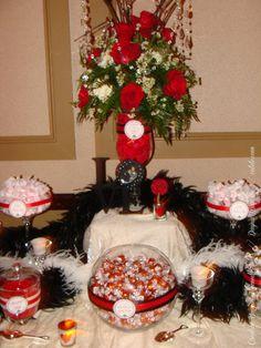 #wedding #blackandred #candybuffet dayna mancini // event design and coordination // cutetc.com