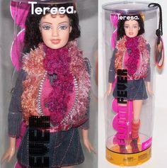 2004 Barbie Fashion Fever Teresa Doll H0658 in Denim Mini Skirt Fringe Vest | eBay