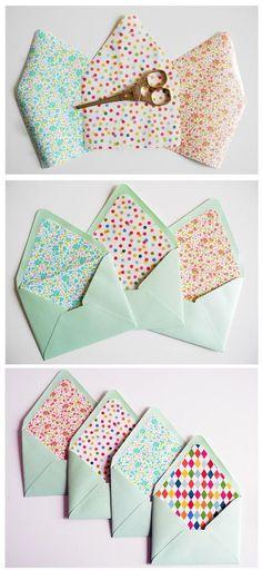 Make Your Own Envelopes Templates Unique Envelope Template Kit Make Your Own Envelopes Out Of Any Envelope Carta, Envelope Diy, Envelope Origami, Diy Envelope Template, Diy Envelope Liners, How To Make An Envelope, Alternative Wedding Stationery, Diy Your Wedding, Diy Cadeau