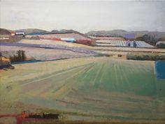 JOHN EVANS, Field & Hillside in Burgundy