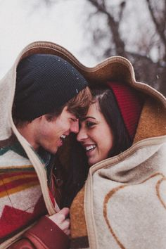 Winter casual photoshoot! For more wedding inspiration visit http://goo.gl/mxtiFh