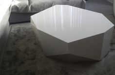 Woodetails - Gloss white coffee table .