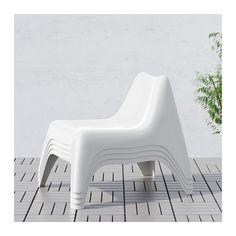 IKEA PS VÅGÖ Lenestol, utendørs, hvit hvit -